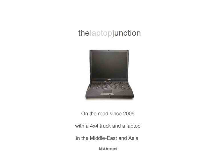 Traveling with a laptop from 2006 in the Middle-East and Asia by 4x4 truck